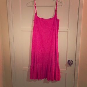 PINK Elie Tahari linen dress size 12